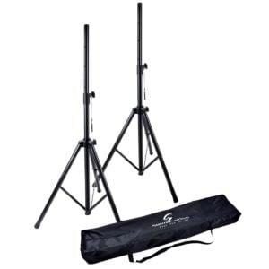 Soundsation SPST-SET-AIR-BK Légrugós hangfal állvány szett hordozó tokkal