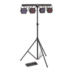 Soundsation 4LEDKIT-DJ 7x3W Tricolor LED-es 4-PAR világítás szett