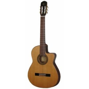 Toledo JCE-NATALIA CUTAWAY Tömör cédrus fedlapos Cutaway klasszikus gitár Belcat elõerõsítõvel