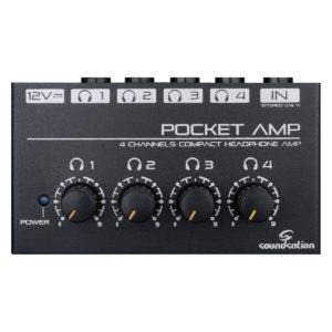 Soundsation POCKET-AMP 4 csatornás mini fejhallgató erõsítõ adapterrel