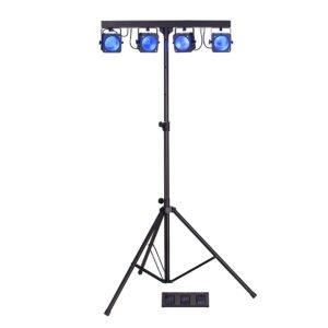 Soundsation 4LEDKIT-COB 4x30W RGB COB LED PAR szett Fresnel lencsékkel és fényállvánnyal