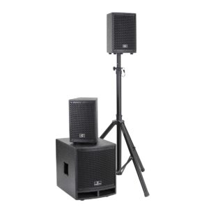 Soundsation LIVEMAKER 1021 MIX 00W 2.1 Portable PA System with 8-Ch Mixer
