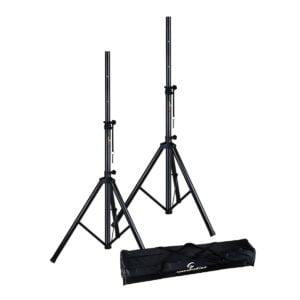 Soundsation SPST-SET80-BK Összecsukható alumínium hangfal állvány szett hordozó tokkal
