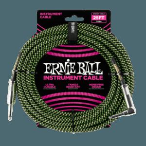 Ernie Ball Fekete/Zöld Szövetkábel