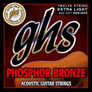 GHS-605XL GHS akusztikus húr 12 húros - Foszfor-bronz