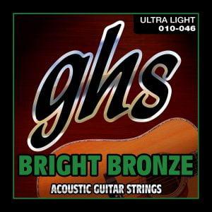 GHS-BB10U GHS akusztikus húr Bright Bronze - Ultra Light